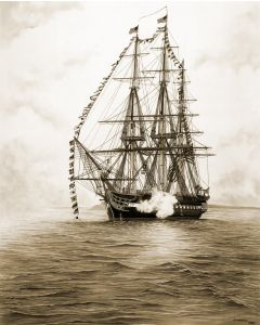 USS Constitution 11'' x 14'' Print (Matted)