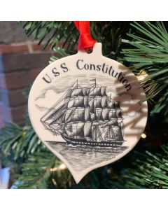 USS Constitution Tear Drop Ornament