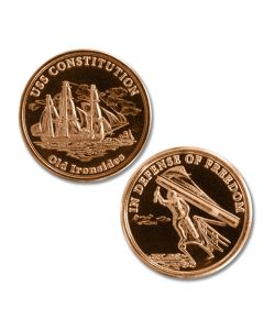 Limited Edition Copper USS Constitution Medallion