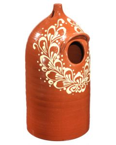 Redware Decorated Birdhouse