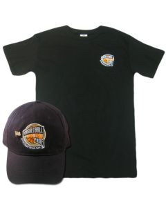 Men's Hall of Fame Cap and Tee Black Combo