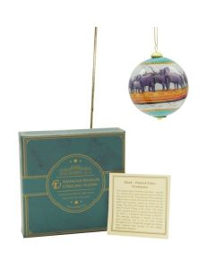 AMNH Akeley Hall of African Mammals Hand-painted Glass Ornament