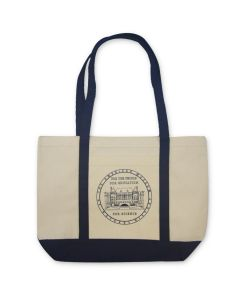 Cotton Canvas Tote - Vintage Museum Facade Design