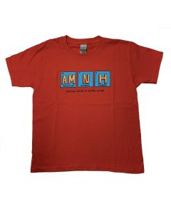 Youth Red AMNH Periodic Table T-Shirt