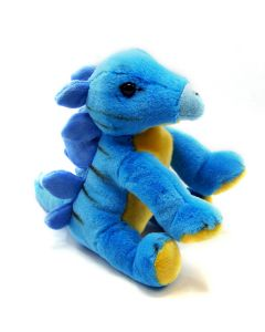 Blue and Gold Floppy Plush Baby Stegosaurus