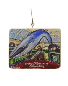 AMNH Wooden Blue Whale Plaque Ornament
