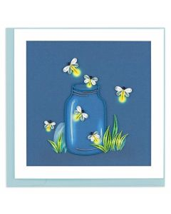 Fireflies Quilling Note Card
