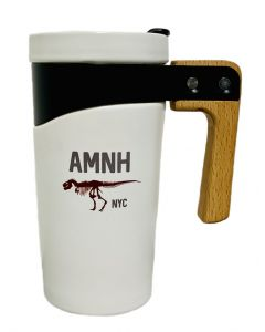 AMNH White Ceramic Travel Mug