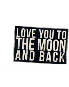 Love You To The Moon And Back Wooden Postcard