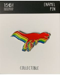 Rainbow T.Rex Lapel Pin