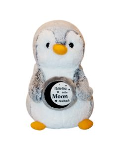 I Love You to the Moon Plush Penguin
