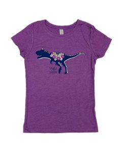 Girls Purple T.Rex Princess T-Shirt