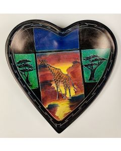 Handcrafted African Soapstone Heart Dish