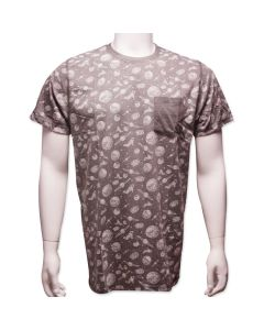 Adult Gray Space-Themed Pocket T-Shirt