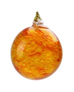 Large Glass Glow-In-The-Dark Sun Ornament