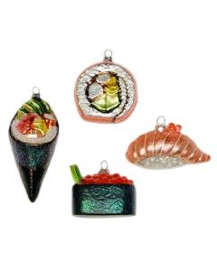Assorted Glass Sushi Ornaments