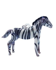 Glass Zebra Ornament