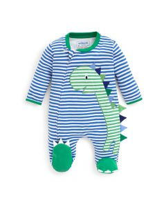 Infant Striped Dinosaur Footie