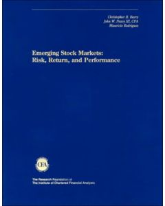 Emerging Stock Markets: Risk, Return and Performance