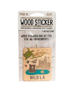 Wild LA Wood Sticker