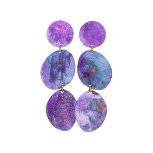 Giverny Three Pebbles Earrings by Sibilia