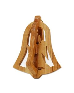 Olive Wood 3D Angel Ornament