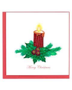 Christmas Candle Quilling Card