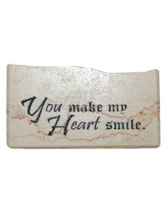 ''You Make My Heart Smile'' Promise Stone