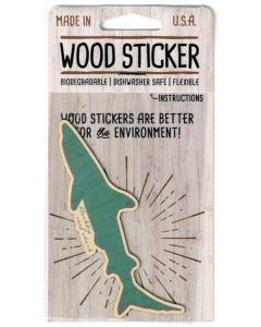 Blacktip Reef Shark Wood Sticker