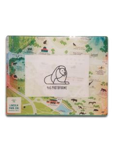 Zoo Map Glass Frame
