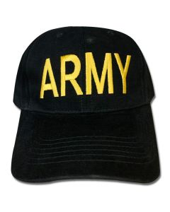 Army Low Profile Black Cap