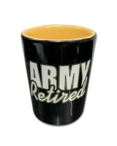 Army Retired Shot Glass