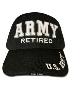 Army Retired Embroidered Cap