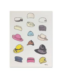 Jacqueline Bouvier Kennedy Hats Note Card