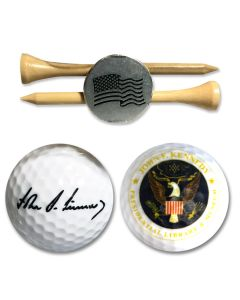 JFK Presidential Seal Golf Ball Set