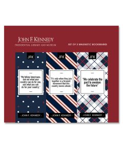 JFK Quotes: Set of 3 Magnetic Bookmarks