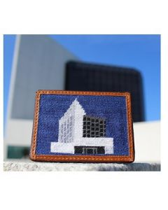 Unisex JFK Library and Museum Needlepoint Card Wallet by Smathers and Branson