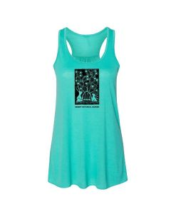 Ladies ''Bunnies with Cactus'' Letterpress Print Tank Top