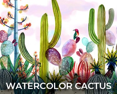 Shop Watercolor Cactus
