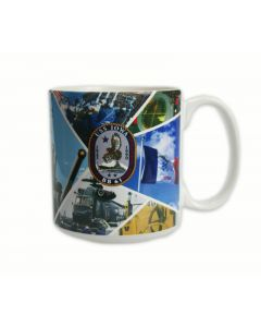 USS Iowa Collage Mug