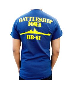 Adult Battleship IOWA BB-61 Tee