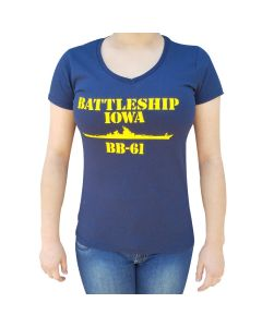 Ladies Battleship IOWA BB-61 T-Shirt