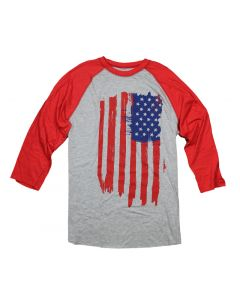 Adult Painted Flag Baseball Shirt
