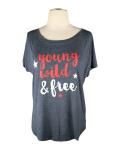 Ladies Young, Wild & Free Tri-Blend Dolman