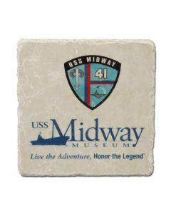 USS Midway Marble Coaster