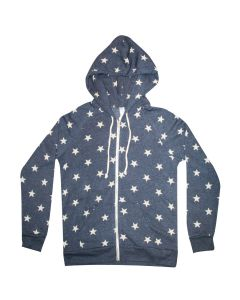 Ladies Eco-Fleece Stars Zip Hoodie