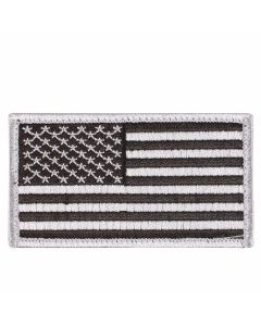 Black & Silver American Flag Patch