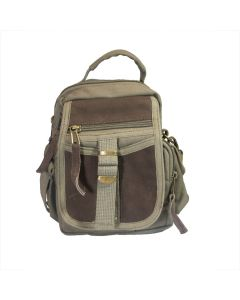 Canvas & Leather Travel Shoulder Bag