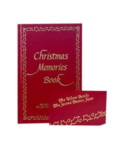 Christmas Memories Book with Personalized Embossing