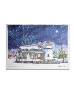 Lighthouse Point at Mystic Seaport Holiday Cards